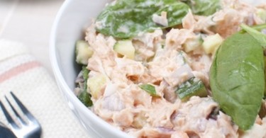 Salmon Salad with Caper Dressing