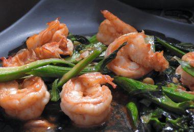 Kale shrimp oyster - Thai's food